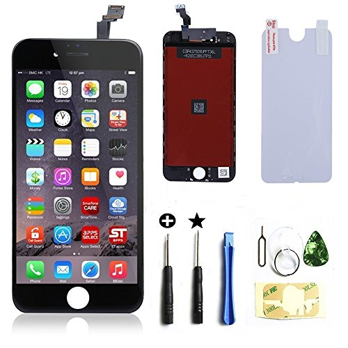 (ZTR OEM Black LCD Display Touch Digitizer Screen Assembly Replacement for iPhone 6 4.7 inch )