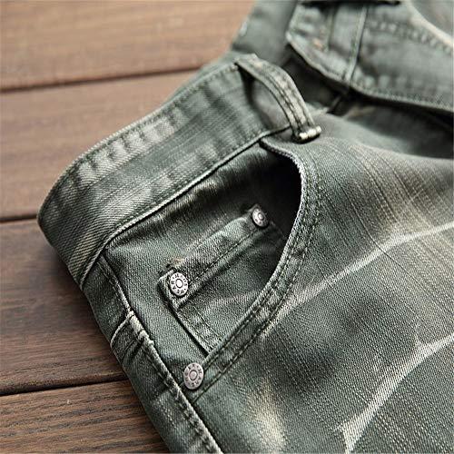 Grigio Strappati Uomo 39 Dimensione Fit Verde Distrutti Caldi Pantaloni 3 Jeans Da 1 Yzibei Eu Casual colore Skinny Slim qC8f7Iwx
