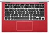 Wrist Palm Rest Palmrest Area Cover Touchpad Trackpad Protector Skin for 11-inch Dell Inspiron 11-3147 11-3148 11-3157 i3147 i3148 i3157 Convertible Touchscreen Laptop(Shimmery red palmrest cover)