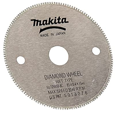 Makita 724950-8C 3-3/8-Inch Wet Cutting Diamond Saw Blade with 15-Millimeter Arbor for Cutting Tile or Glass