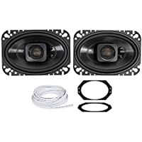 Jeep Wrangler TJ 03-06 Polk Audio 4x6 Waterproof Front Speaker Replacement Kit