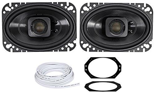 - Polk Audio 4x6 Waterproof Front Speaker Replacement for 03-06 Jeep Wrangler TJ