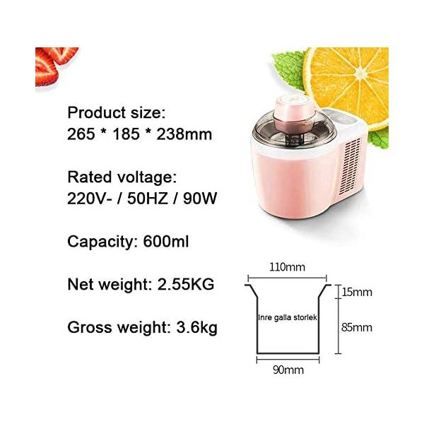 QIYUE Ice Cream Maker, Ice Maker MachineIce Maker macchina, in casa di qualità professionale Ice Cream - Ideale for… 5 spesavip