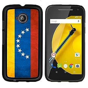 EJOOY---Cubierta de la caja de protección para la piel dura ** Motorola Moto E2 E2nd Gen ** --Nacional bandera de la nación País Venezuela