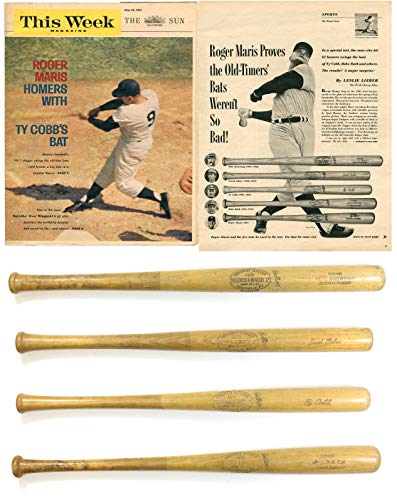 '61 ROGER MARIS YANKEES GAME USED HOME RUN BAT PHOTO-MATCH PSA BABE RUTH TY COBB