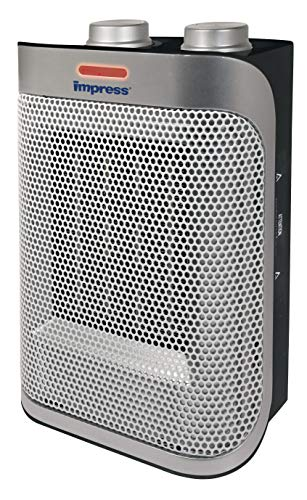 Impress Space Heater with a Ceramic Element | Fan | 750w and 1500w Settings | Adjustable Thermostat | Safety Switch…