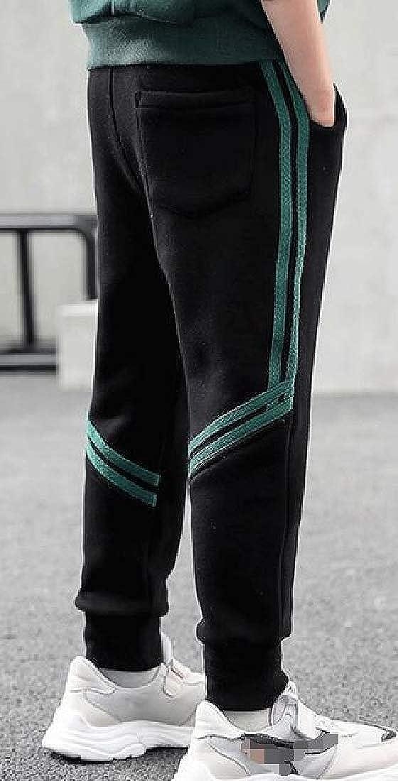 Joe Wenko Little Kids Boy Active Elastic-Waist Pockets Sweatpants Running Jogging Pants