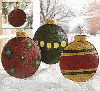 giant christmas tree ornament garden decor yard stakes. Black Bedroom Furniture Sets. Home Design Ideas