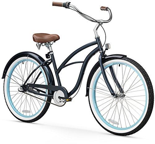 (sixthreezero Women's 3-Speed 26-Inch Beach Cruiser Bicycle, Classic Dark Blue)