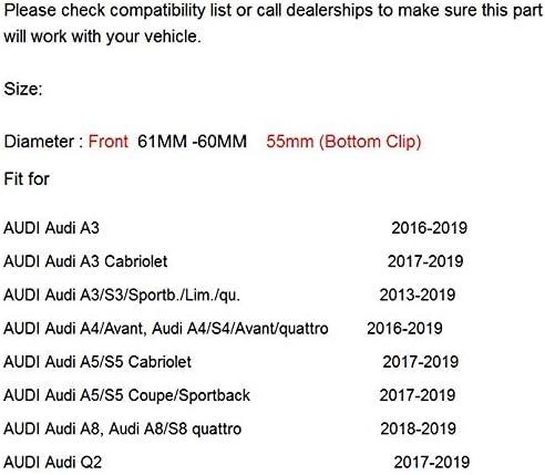 4 St/ück Nabenkappen passend f/ür Alufelgen Audi Grau Au/ßendurchmesser 61 mm Innen 55 mm
