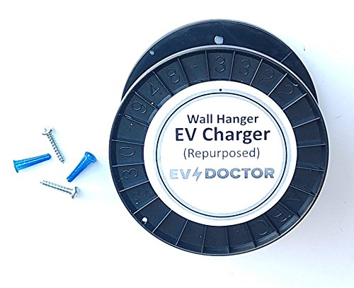 EVDoctor The 1 Original EV-Cable-Hanger protects the cable and J1772 handle of Level 1 and Level 2 Electric Vehicle Car Chargers (EVSE). Bonus items: Rain Bonnet and EVs Save the Planet Sticker by EVDoctor (Image #1)
