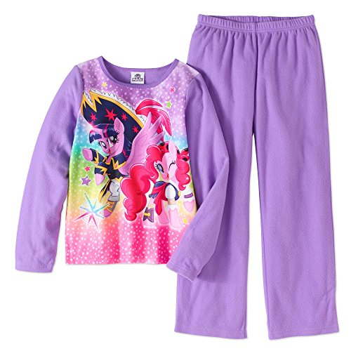AME inc. Girls My Little Pony Movie Fleece Pajamas (XS 4/5, Purple)