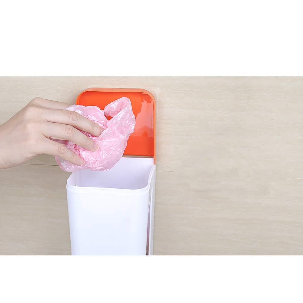 Dispensador De Bolsas De Plástico IKEA, Fácil De Instalar, Caja De Almacenamiento De Basura En La Pared, Caja De Almacenamiento Multifuncional De ...