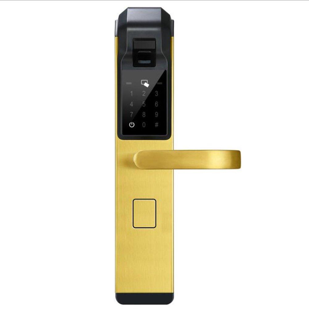 スマートドア ロック 指紋 生体認証 タッチ スクリーン ホーム セキュリティ キーレス タッチパッド デジタル コード ロック,元に戻せる状態 ハンドル-A B07C4V3GJQ A A