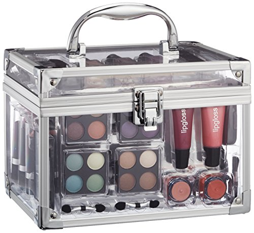 Schminkkoffer 'Acrylic', Acryl-Koffer mit 42 teiligem Schmink- / Make-Up Set