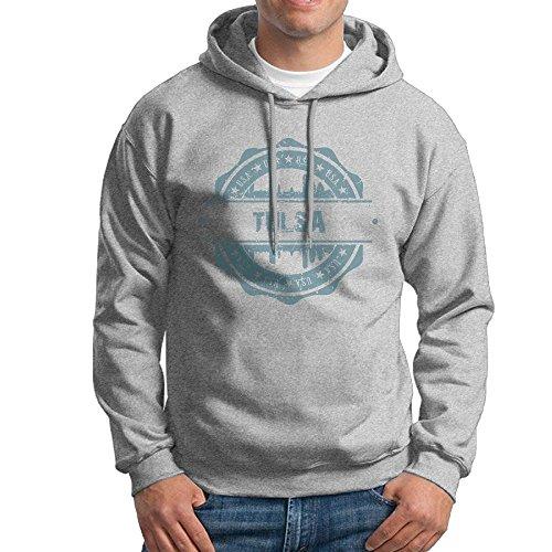 X-JUSEN Men's Tulsa Oklahoma Hoodies Hooded Sweatshirt Pullover Sweater, Long Sleeves Hooded Costumes Kit