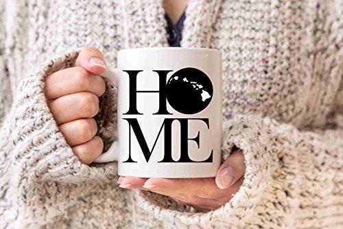 Mug Hawaii White (Hawaii Mug State Mug Coffee Mug Home Mug Homesick Gift Personalized Mug Custom Mug No Place Like Home State Mug Gift Valentines Day Gift)