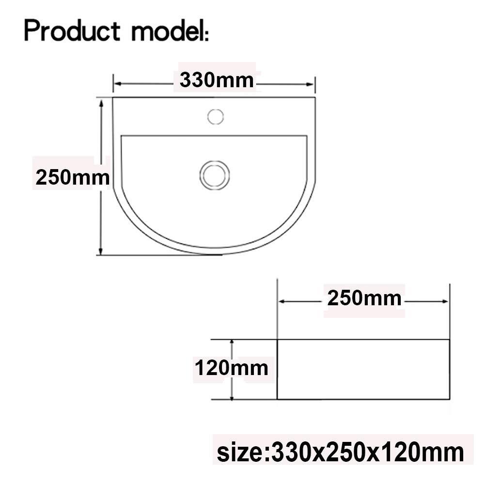 LexonElec /Évier de salle de bain incurv/é triangulaire lavabo moderne /à suspendre au mur pour salle de bain