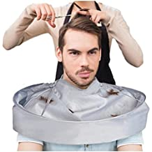 New Style Hair Cutting Cloak Umbrella Cape Salon Barber Hairdressing Hair Cutting Tools Kits For Adult (Silver)
