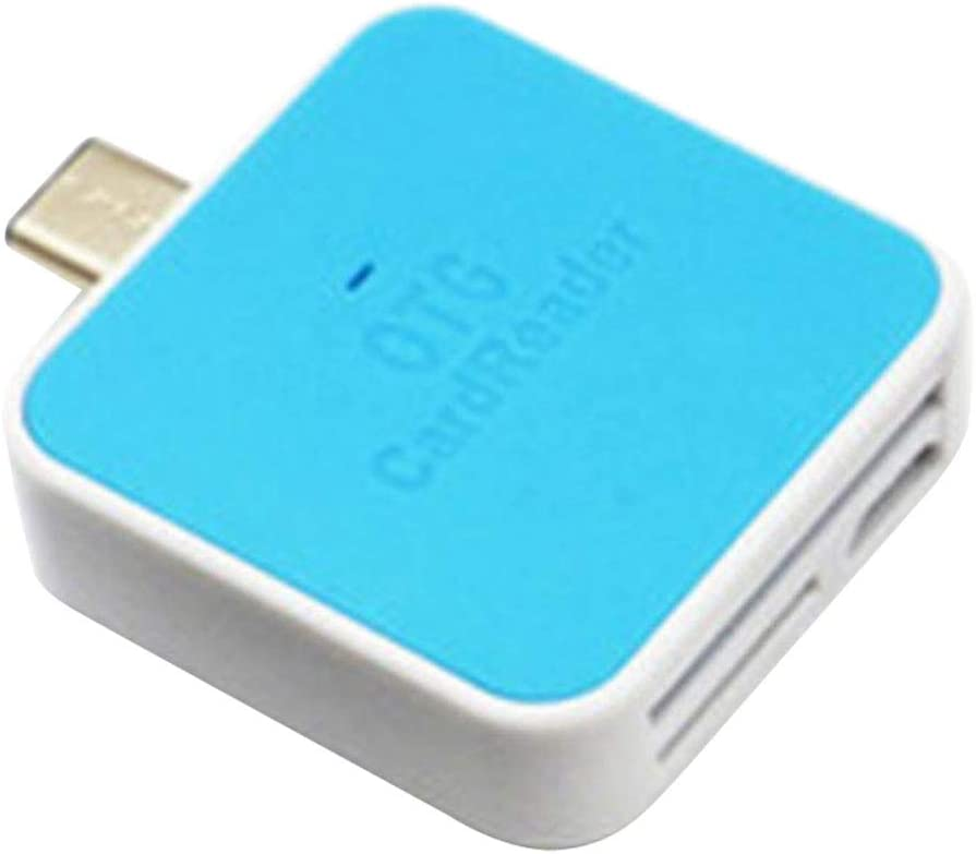 Green as described OTG USB 3.1 Type C TF SD Card Reader Adapter for Huawei Phone