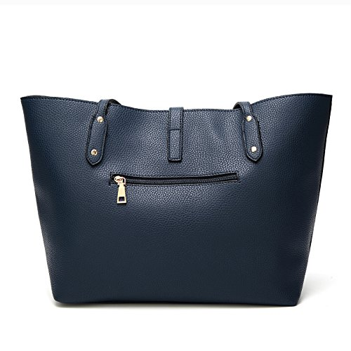 Satchel Bags Blue Shoulder Women for Wallets Ladies Designer Tote TcIFE Handbags BaTXxBv