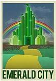 Emerald City Retro Travel Poster 13 x 19in