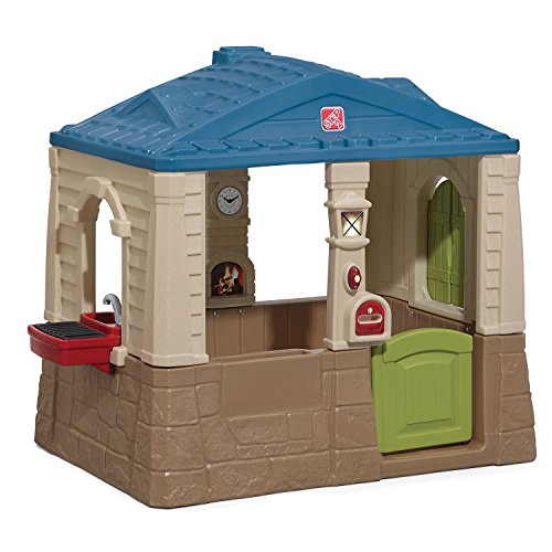 Step2 Happy Home Cottage & Grill Kids Playhouse, Blue (Best Outdoor Playset For 2 Year Old)