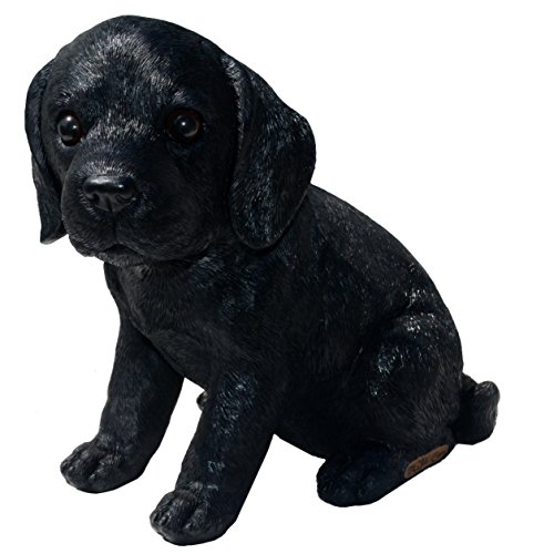 - Michael Carr Designs 80099 Labrador Puppy Statue, Small, Shadow-Black