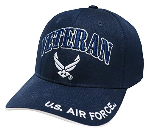 TL MILITARY CAPS US Armed Forces Embroidered Military Baseball Cap Hat (Air Force Vet Wing Navy - Cap Service Air Force