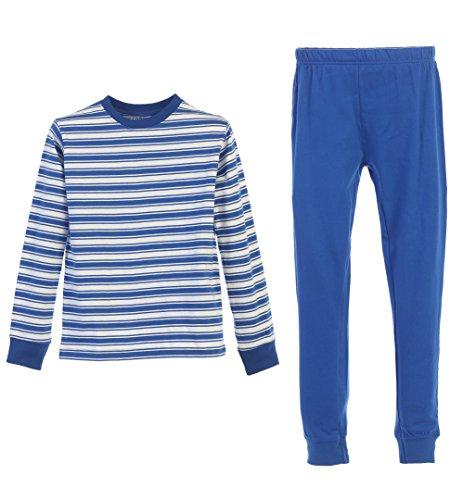 Gioberti 2 Piece Boys Knit Stripe Pajama Set, Royal Blue, Size 5 Royal Blue Five Stripe