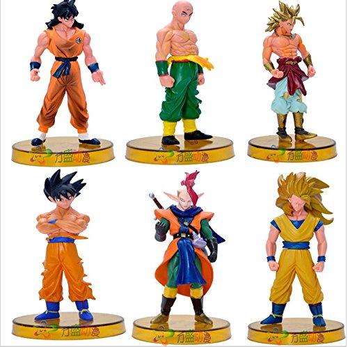 6pcs Dragonball Z Kai Figuarts Toy 2015 12cm Q Super Saiyan 5 Goku Anime Juguetes Dragon Bal Z Miniatures Figurines (Goku Children)