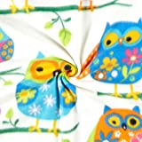 Baum Textiles Winter Fleece Owls Multi Fabric By The Yard, Multicolor