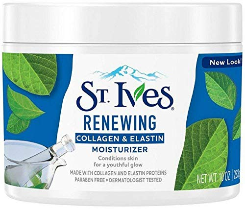 St. Ives Renewing Collagen & Elastin Moisturizer, 10 oz (Pack of 4) (St Ives Timeless Skin Collagen Elastin Facial Moisturiser)