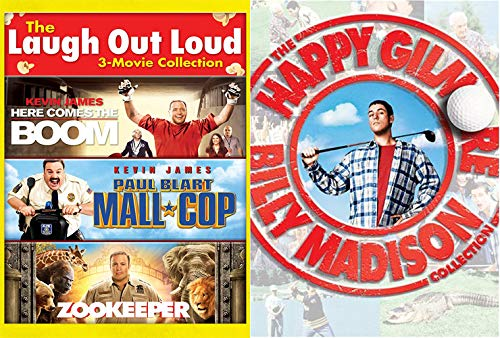Happy Madison Mega Pack: Laugh Out Loud- Here Comes The Boom/ Paul Blart Mall Cop/ Zookeeper + Billy Madison/ Happy Gilmore (5 Feature Film -DVD ()