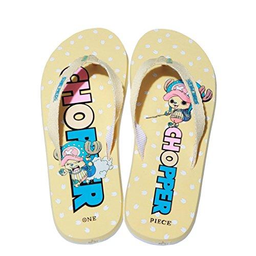 Bromeo One Piece Anime Unisex Flip Flops Chanclas 32