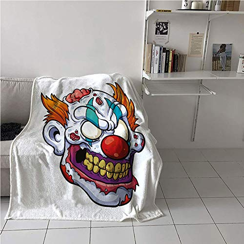Suchashome Scary Blanket Bed,Zombie Clown Head in Cartoon