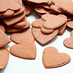Heart Shaped Plantable Seed Confetti (Burnt Orange) - 350 pieces/bag