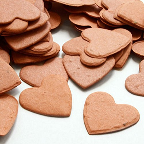 (Heart Shaped Plantable Seed Confetti (Burnt Orange) - 350 pieces/bag)