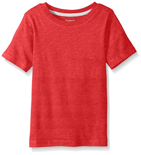 French Toast Big Boys' Short Sleeve Crew Neck Tee, Red Heather, 8