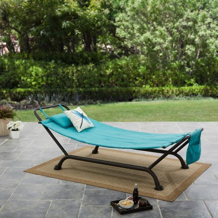 Forest Hills Hammock with Stand in Teal Shimmer ()
