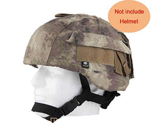 H World Shopping Tactical Airsoft Military MICH 2000 Ver2 Helmet Cover with Back Pouch (at)