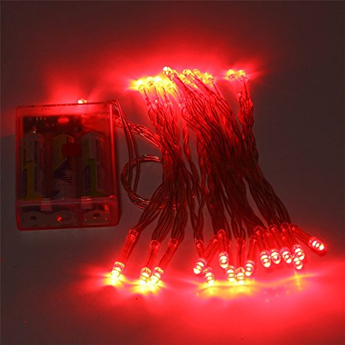 Red 50 LED Battery String Light Lamp Fairy Christmas Wedding Party
