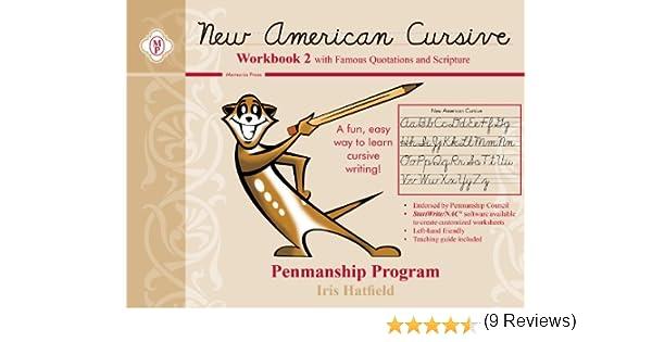 Workbook customizable handwriting worksheets : New American Cursive II (Scripture): Iris Hatfield: 9780979767814 ...