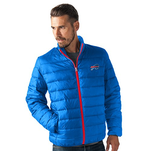 G-III Sports NFL Buffalo Bills Men's Skybox Full Zip Packable Jacket, Royal, Small/Medium