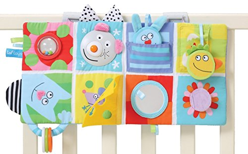 Taf Toys Shape, Music and Lights 3 in 1 Activity Book Toy for Infants, Crib or Playpen Play Center Plays Music Lights