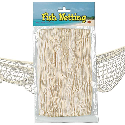 - Beistle 50301-N Fish Netting, Natural Color, 4' x 12'