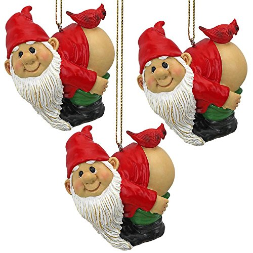 Christmas Ornament - Garden Gnomes Figurine - Loonie Moonie Gnome Set - Naughty Gnomes - Mooning Gnomes Statues
