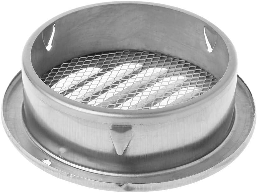 100 Huiouer Grille de Ventilation Murale ext/érieure en Acier Inoxydable Grille da/ération Grille Ronde Gaine de Ventilation