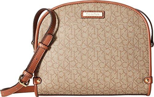 Brown Luggage Womens Klein Textured Monogram Mini Crossbody Calvin Khaki a7CUqw0n