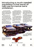 """1987 BUICK RIVIERA T TYPE, SOMERSET """"T"""" PACKAGE & SKYHAWK """"T"""" PACKAGE VINTAGE COLOR AD - USA - EXCELLENT ORIGINAL !!"""